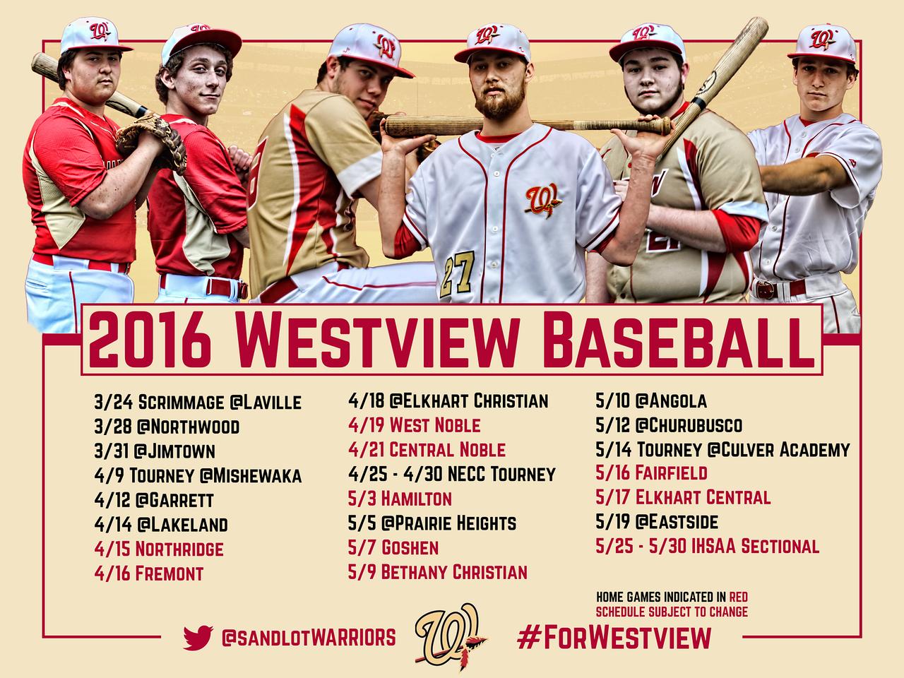 "2016 Baseball Schedule Poster - 24"" x 18"""