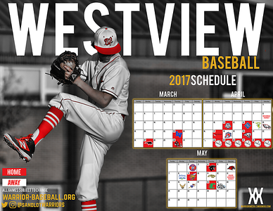 2017 Baseball Schedule Posters