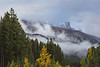 Snow Capped Peak in the Mist
