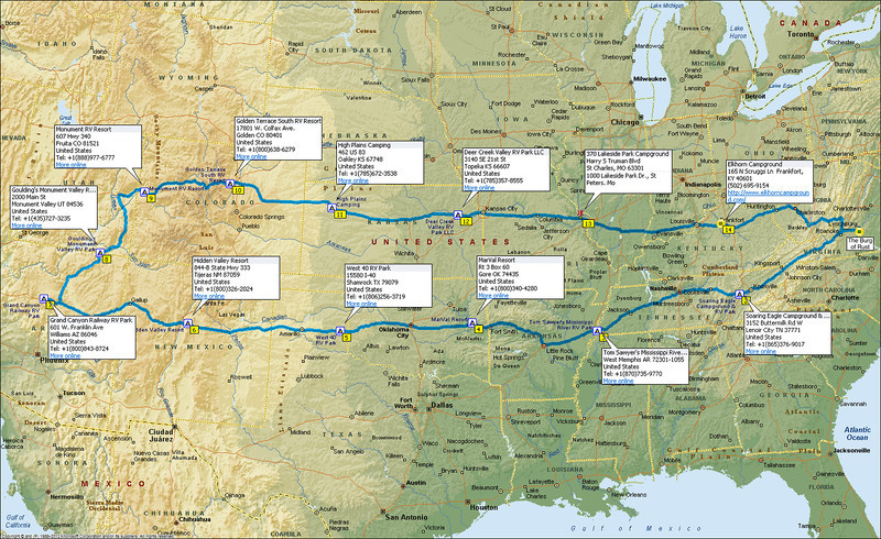 4718 Miles ... 30 Days ... 13 Campgrounds