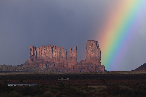 Afternoon rain shower in Monument Valley