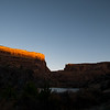 Sunrise over the canyon walls