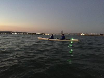 Amanda and Eddie on a Sunset Paddle - Aug 2016