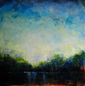 """The Lake"" (acrylic on canvas) by Michelle Meister"