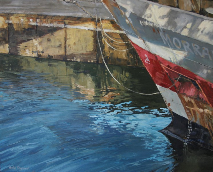 """The Boat Lock"" (acrylic) by Holly Dyrland"