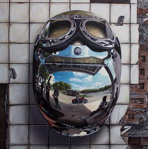 """""""Head Gear"""" (oil on canvas) by Sam Wilson"""
