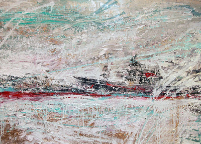 """Ice Breaker"" (oil on canvas) by Ekaterina Lobanok"