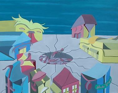 """E'tahi Atu"" (acrylic on canvas) by DeVoe DaVis"