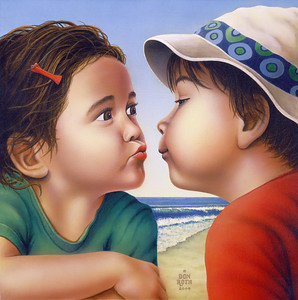 """First Kiss"" (acrylic) by Don Roth"