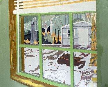 """Beautiful Captive"" (acrylic on canvas) by DeVoe DaVis"