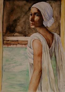 """Khalene"" (watercolor) by Sherry Lupo"