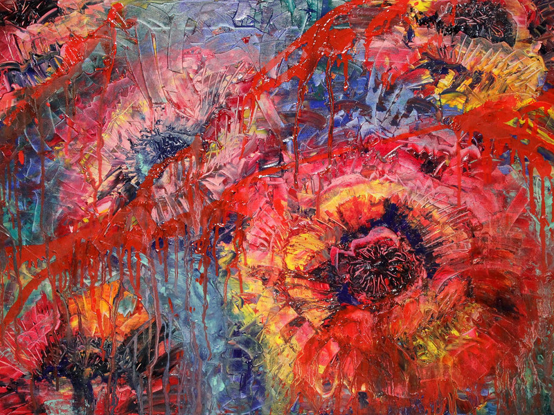 """Poppies"" (oil on canvas) by Ekaterina Lobanok"