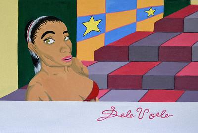 """""""#BornAStar"""" (acrylic paint on canvas) by DeVoe DaVis"""