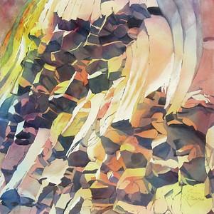 """Hot Basalt"" (watercolor) by Elizabeth Burin"