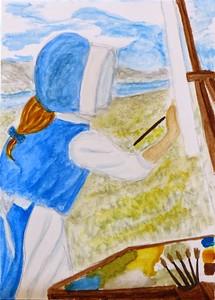 """Field of Dreams"" (watercolor) by Kathleen Othus"