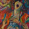 """In the stream"" (acrylic on canvas) by Yana Vasileva"