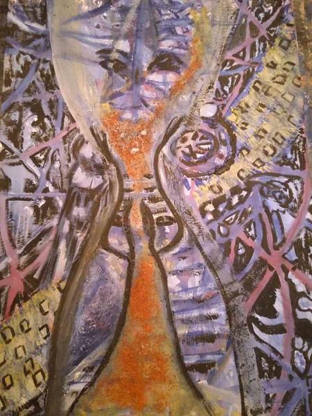 """""""Hourglass"""" (gouache) by Eugene Fomenko"""