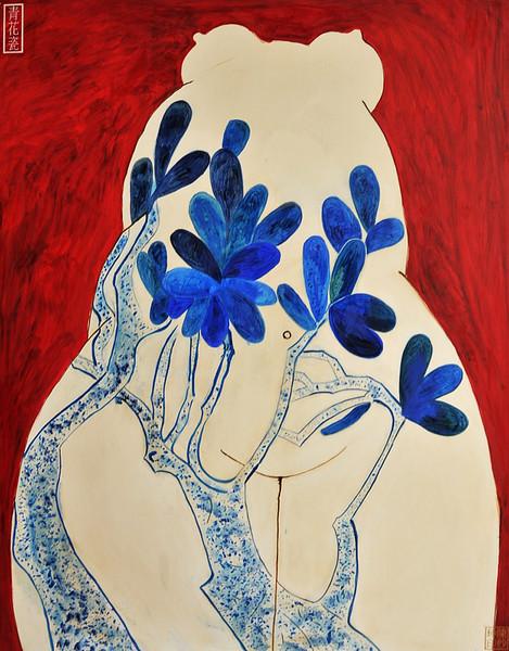 """Rising"" (oil on canvas) by Lynn Chen"