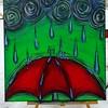 """""""Umbrella-ella-ella"""" (acrylic) by Sandi Winter"""