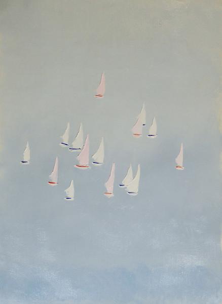 """""""Boats"""" (oil on canvas) by Svetlana Denisova"""