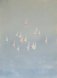 """Boats"" (oil on canvas) by Svetlana Denisova"