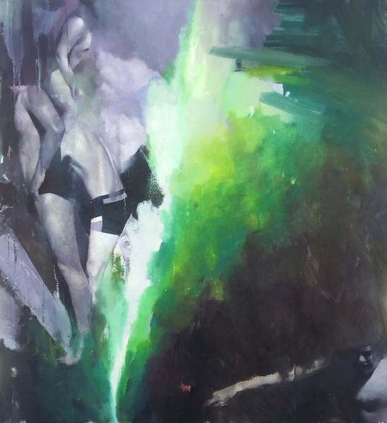 """134"" (oil on canvas) by Maxim Kazimir"