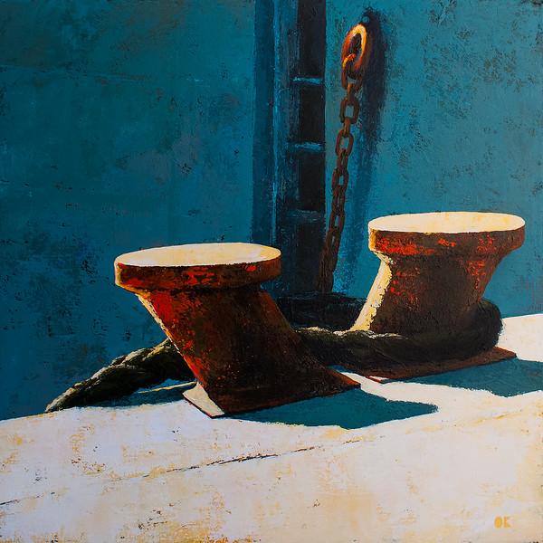 """Port Lorient"" (acrylic on canvas) by Olga Krokhicheva"