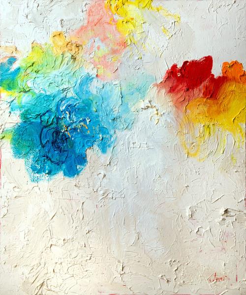 """Palette"" (oil on canvas) by Julia London"
