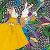 """Bunny Serenade"" (colored pencil) by Dr Jessie Hummel"