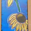 """Sunflowers"" (acrylic) by Sandi Winter"