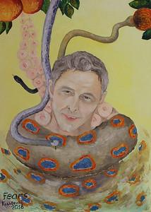 """Fears"" (oil on canvas) by Elena Kashleva"