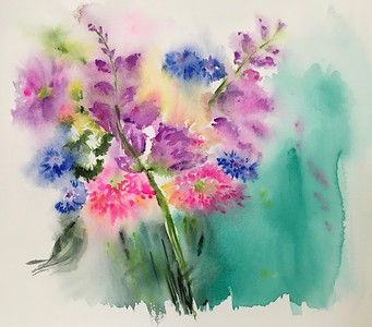 """""""Freshly Picked"""" (watercolor) by Amy Goolkasian"""