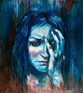 """""""Depression"""" (paint on hardboard) by Anastasiia Pelevina"""