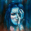 """Depression"" (paint on hardboard) by Anastasiia Pelevina"