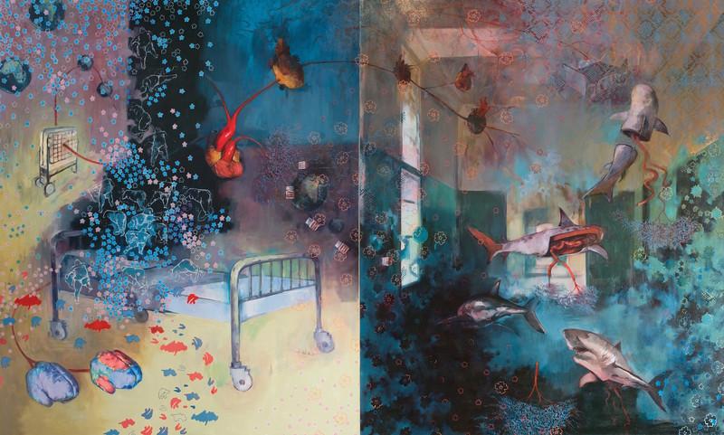 """Fear of the Hospital"" (oil on canvas) by Diane Zeeuw"