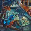 """""""The Blue Guitar"""" (oil on canvas) by Derwin Leiva"""