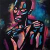 """Black Pearl"" (acrylic on canvas) by Katerina Kiprskaya"