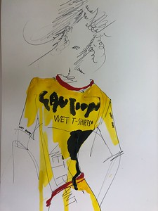 """WET T-SHIRTS"" (watercolor, photo shop) by Jiah Lim"