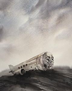 """Alone"" (watercolor) by Gabriel Dashin"