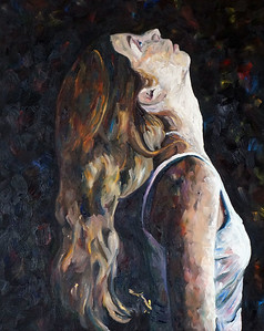 """Kenzie II"" (oil on canvas) by Janelle Crocker-Krause"