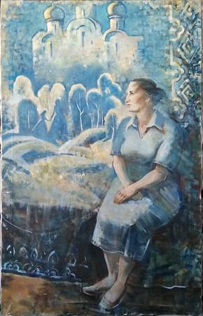 """Reminiscence"" (oil on canvas) by Daria Riabinina"