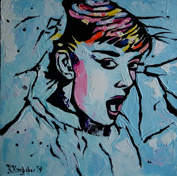 """My Audrey"" (acrylic on canvas) by Katerina Kiprskaya"