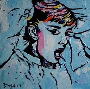 """""""My Audrey"""" (acrylic on canvas) by Katerina Kiprskaya"""