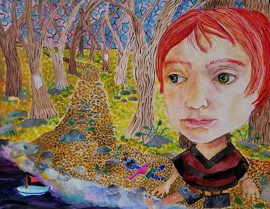 """Boat (Ashland)"" (acrylic) by Jennifer Carberry-Landis"