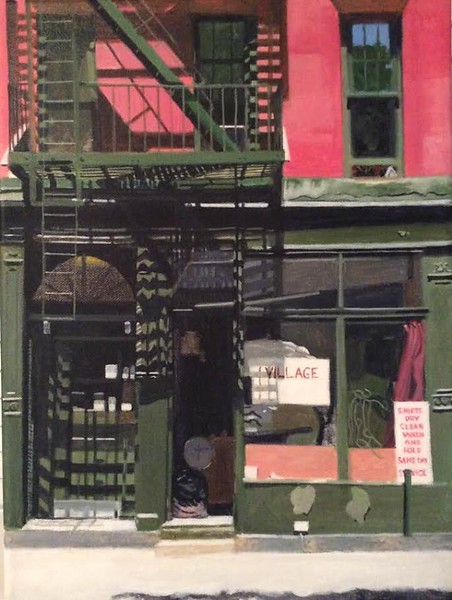 """Village Laundry"" (acrylic on canvas) by Elliot Appel"