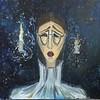 """""""In blue room"""" (oil on canvas) by Alika Magomeddibirova"""