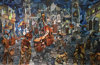 """The Celebration"" (oil on canvas) by Derwin Leiva"