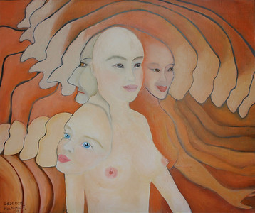"""Essence"" (oil on canvas) by Elena Kashleva"