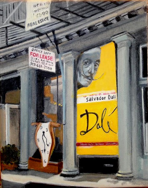 """Dali For Lease"" (acrylic on canvas) by Elliot Appel"