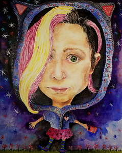 """Self"" (acrylic) by Jennifer Carberry-Landis"
